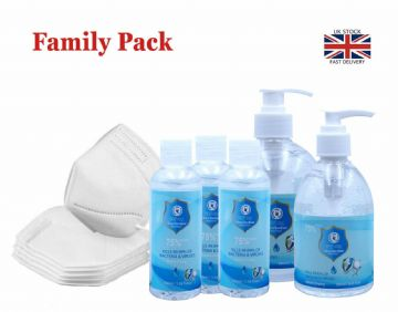 FAMILY PROTECTION PACK ANTIBACTERIAL VIRUS PROTECTION UK STOCK